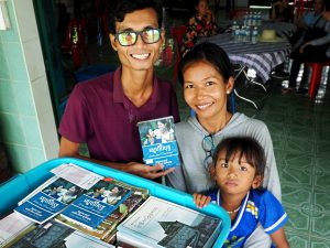 In my spare time I distribute books published in the Khmer language for people from a Buddhist background.